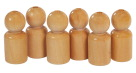 ECR4Kids Wooden People Set, Ages 12 Months to 6 Years, 2 -3/4 in, Set of 6