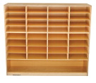 Childcraft Mobile Flat Tray Cubby, 33 Compartments, 47-3/4 x 14-1/4 x 42 Inches
