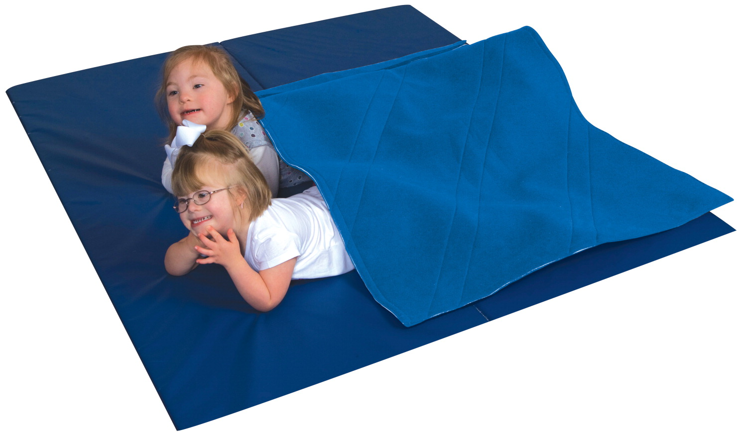 Abilitations Small Weighted Blanket Without Weights, 3 x 4 ft, Neoprene/Polyester, Blue
