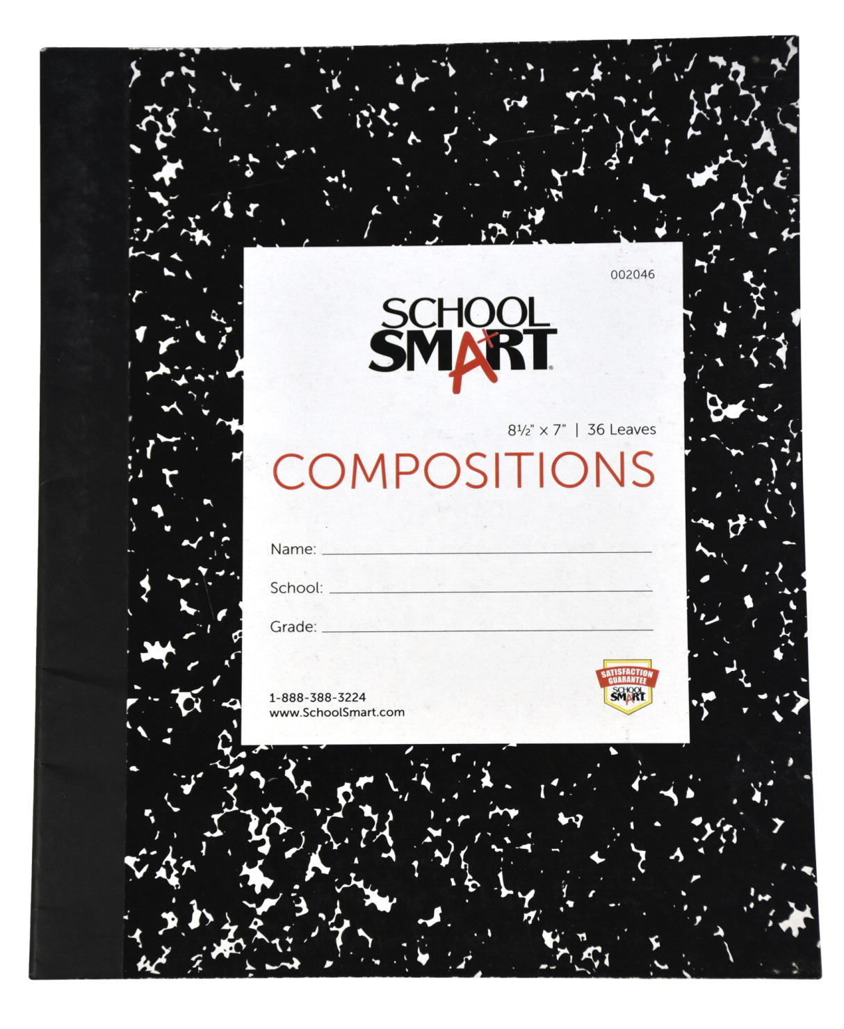 School Smart Flexible Cover Composition Book, 8-1/2 x 7 Inches, 36 Sheets