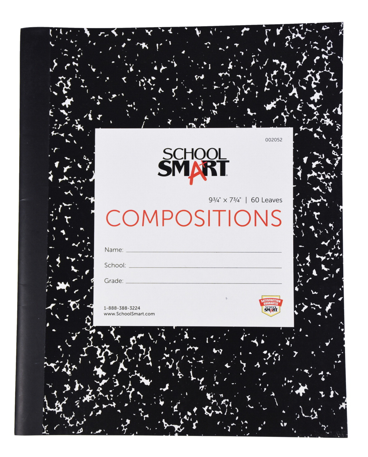 School Smart Flexible Cover Ruled Composition Book, 60 Sheets, 9-3/4 x 7-1/2 Inches