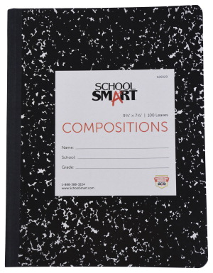 School Smart Hard Cover Ruled Composition Book 100 Sheets