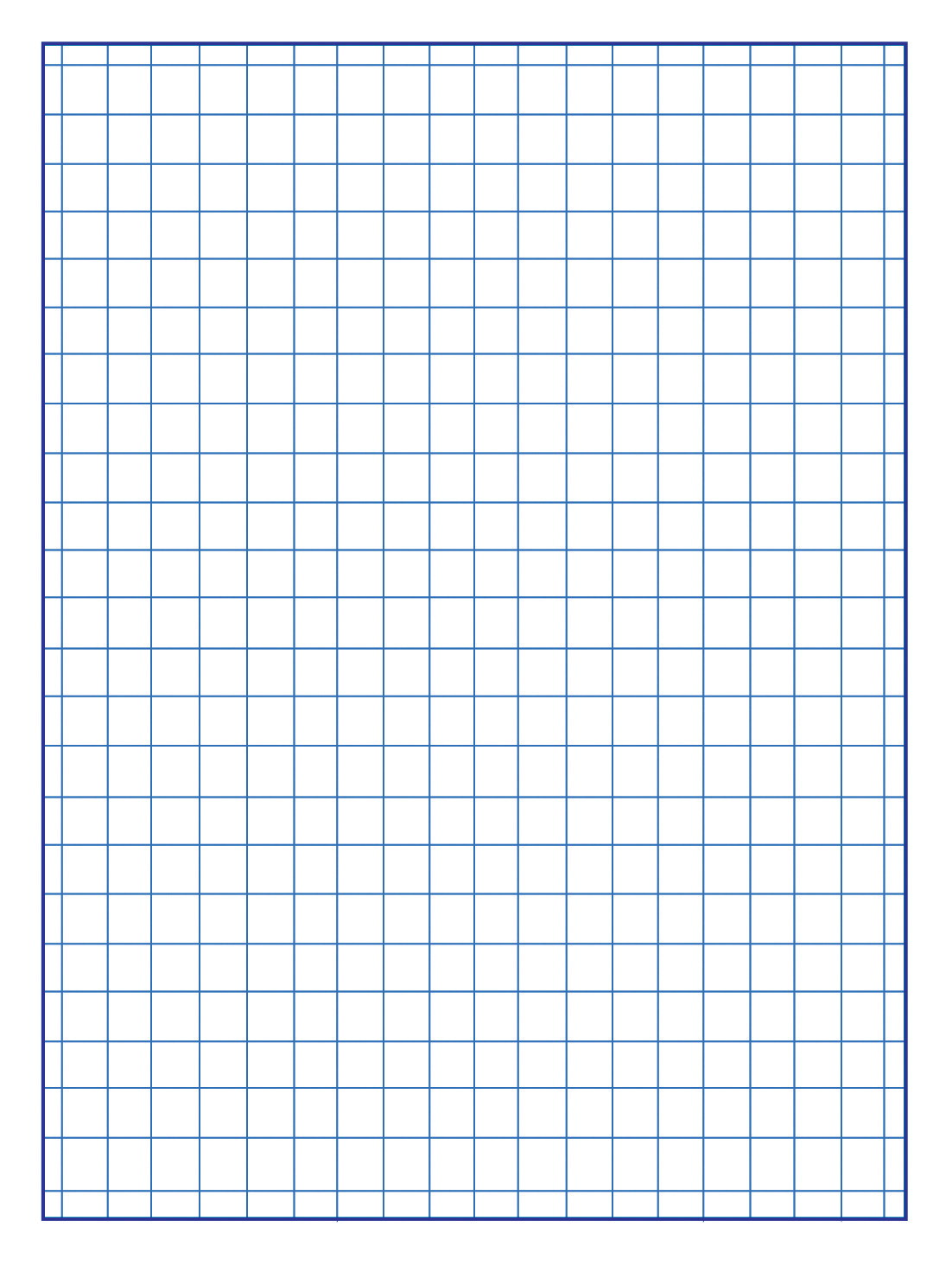 It is a graphic of Sassy One Inch Graph Paper Printable