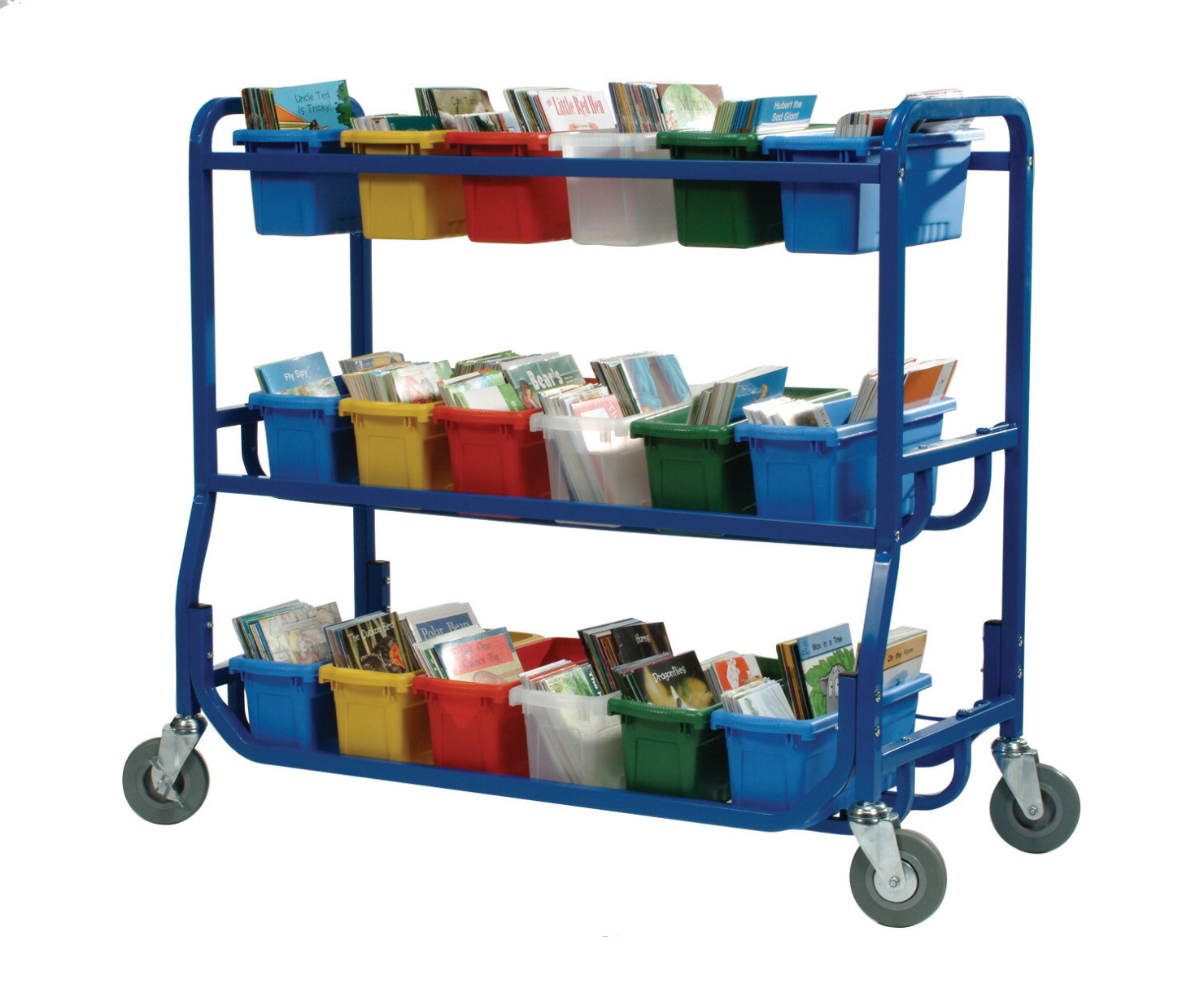Copernicus Library on Wheels With 18 Small Tubs