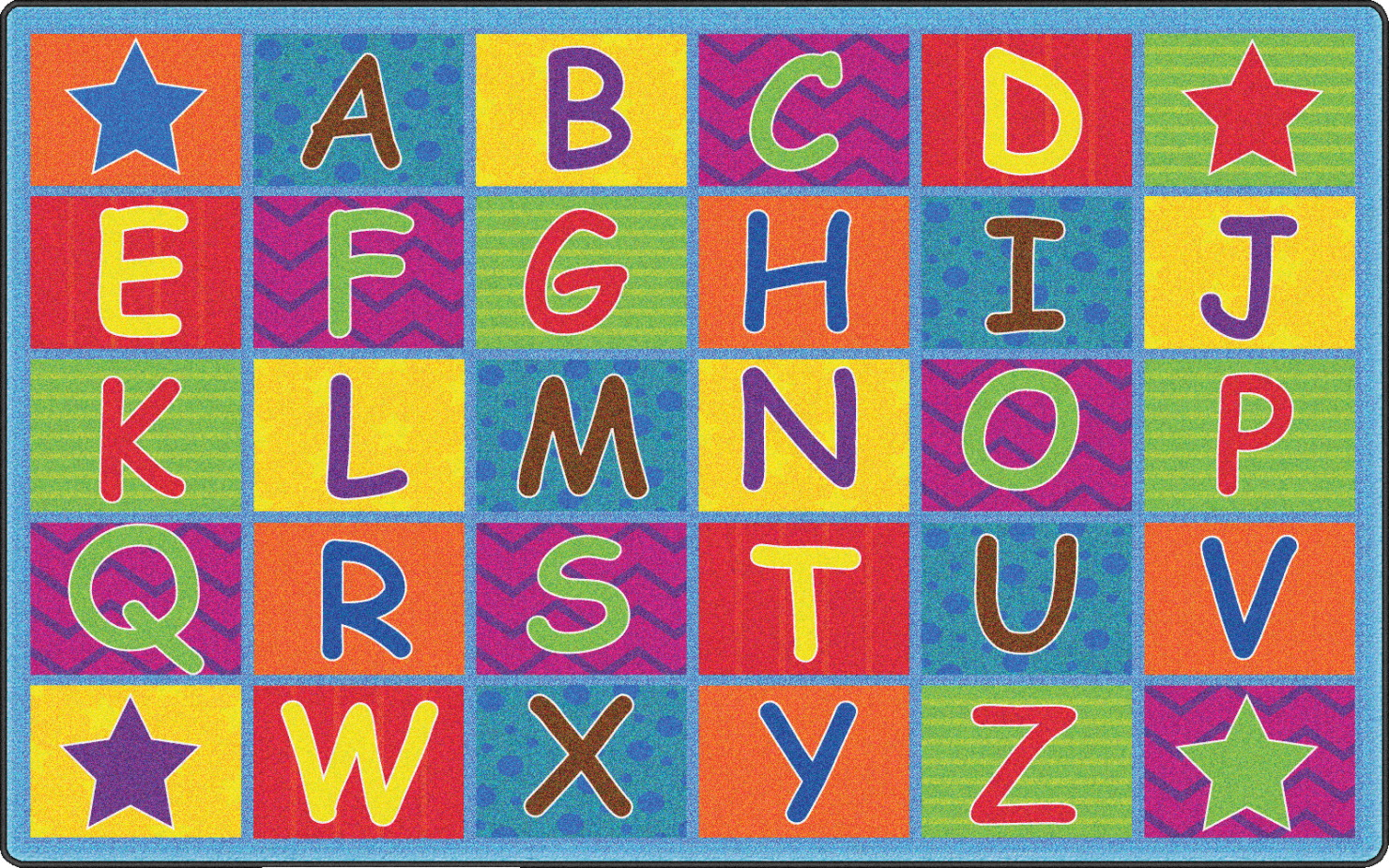 Flagship Carpets Cheerful Alphabet 6 Feet X 8 Feet 4