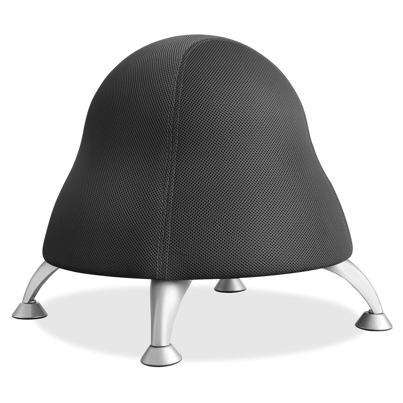 Balance Ball Chair Frame Only: Safco Runtz Ball Chair, Black
