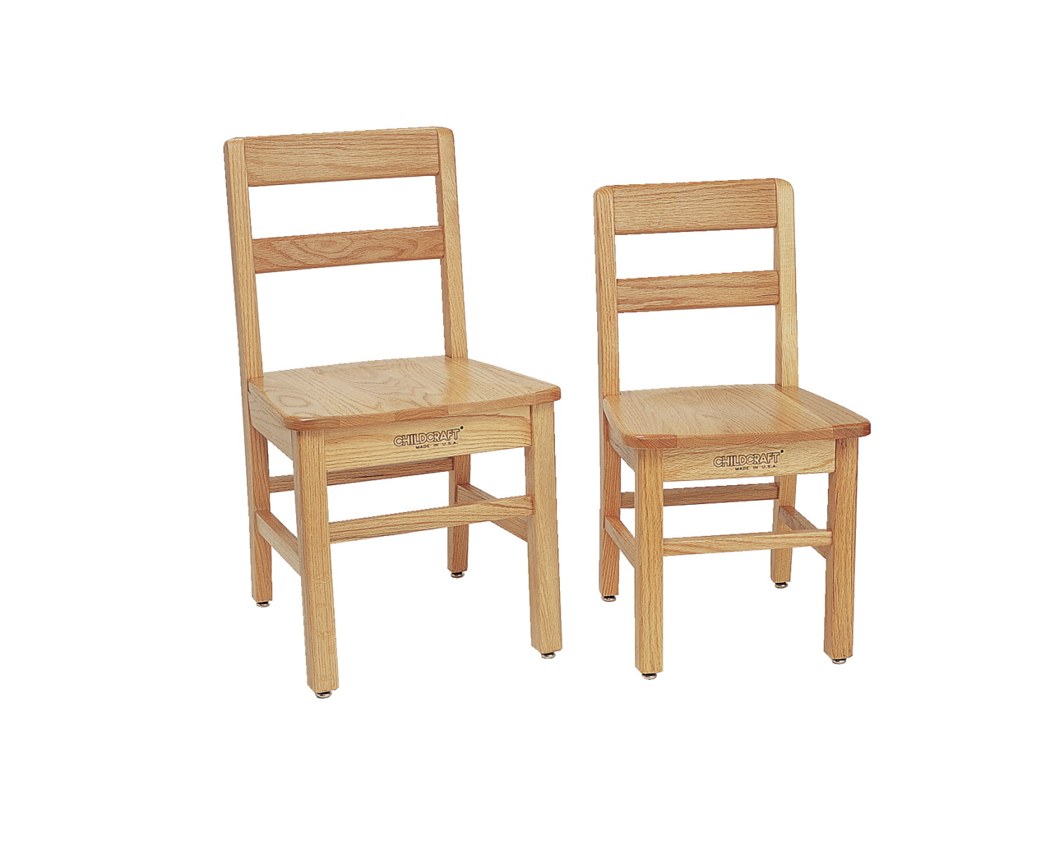 Childcraft Premium Oak Chairs, 14 in Seat Height, Set of 2