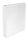 School Smart Polypropylene D-Ring Binder, 1-1/2 Inch, White