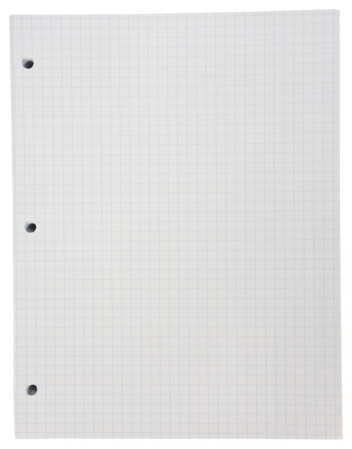 School Smart Graph Grid Paper, 3-Hole Punched, Letter Size