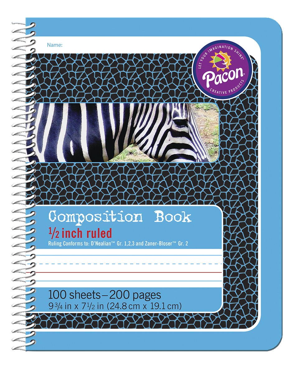 Pacon Composition Book 9 3 4 X 7 1 2 Inches 1 2 Inch