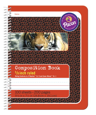 Pacon Composition Book 9 3 4 X 7 1 2 Inches 5 8 Inch