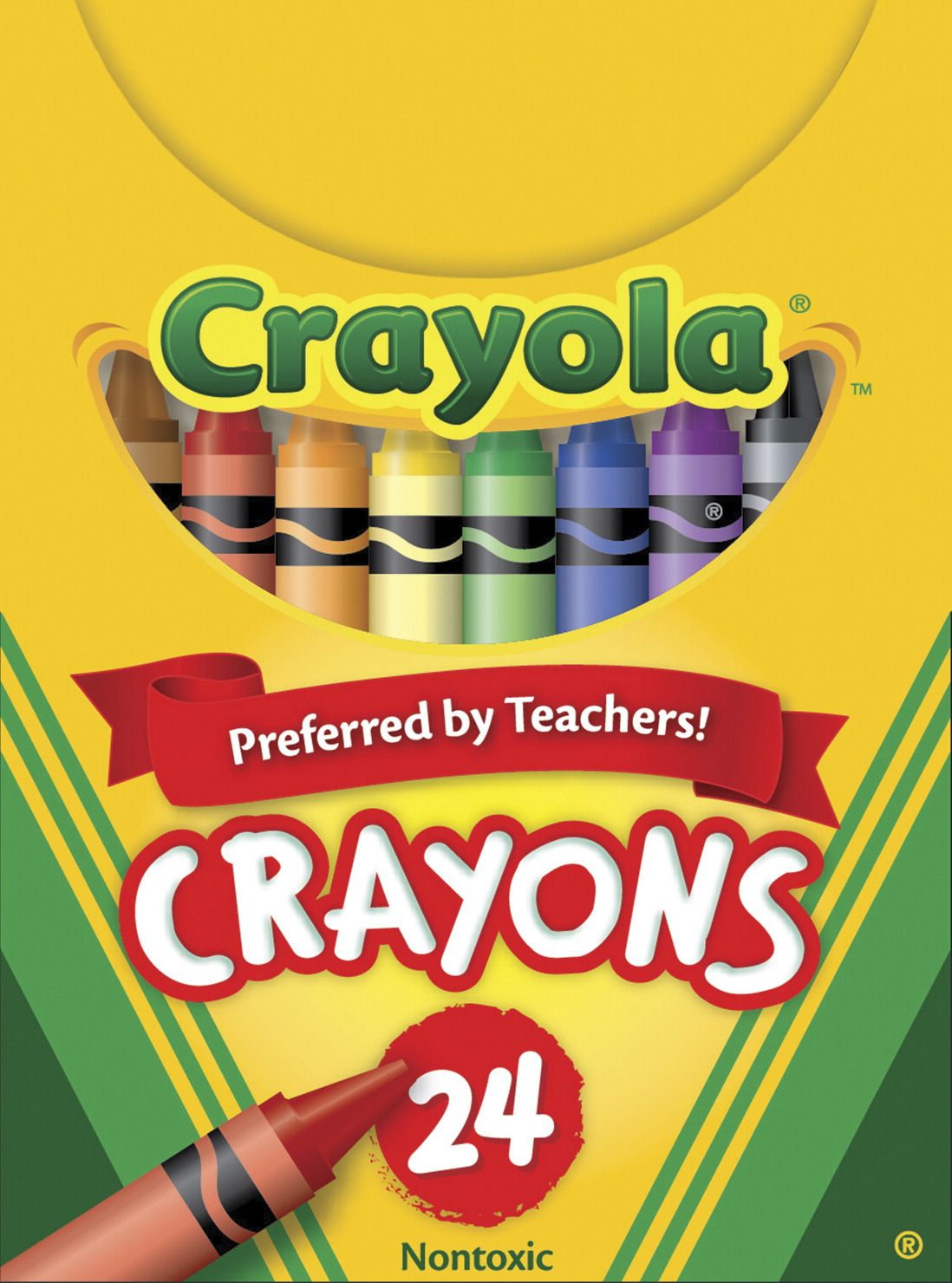 Crayola Crayons in Tuck Box, Standard Size, Set of 24