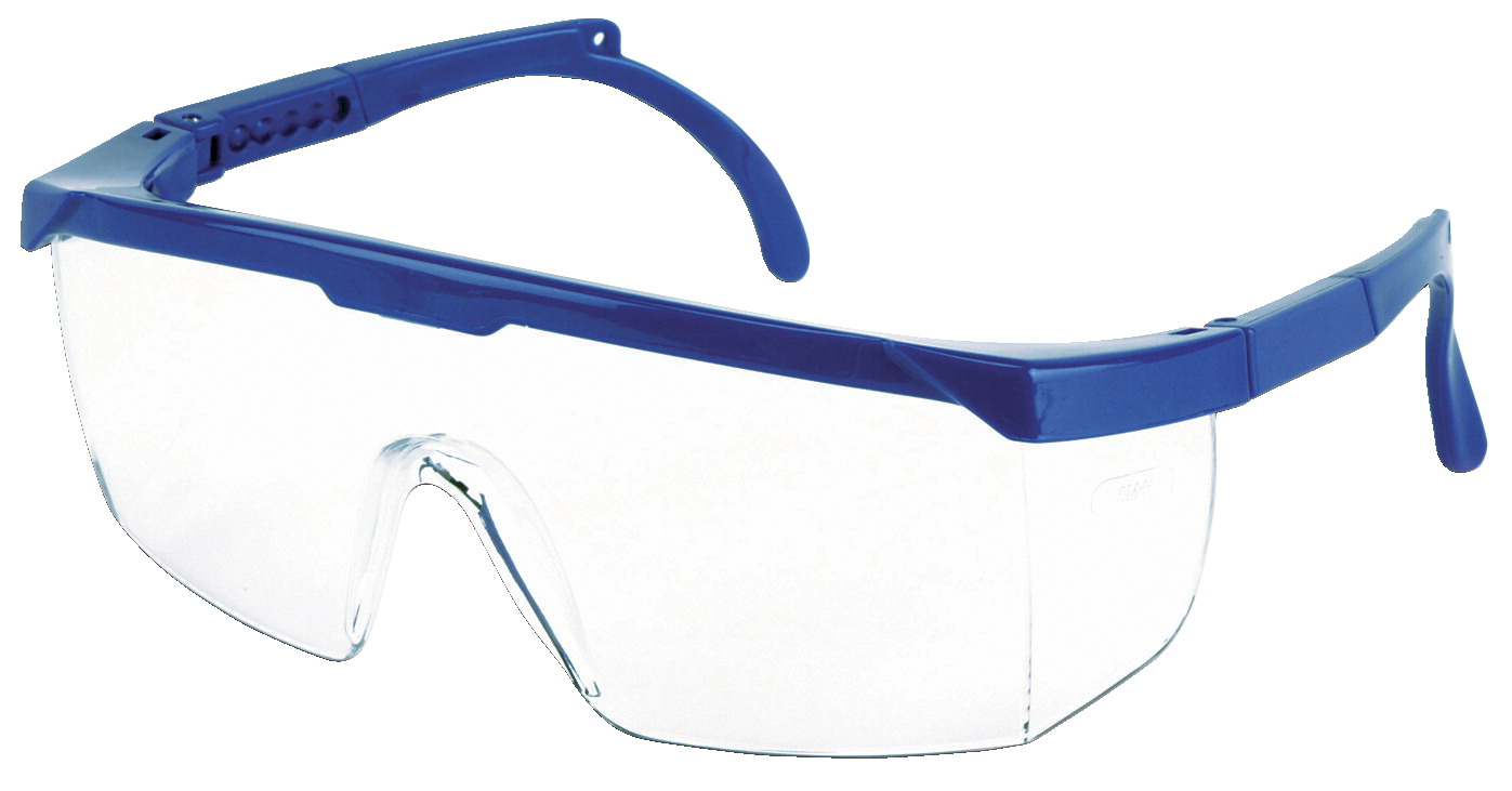 SureWerx Sebring 400 Safety Spectacle, Hard Coated Polycarbonate Side-Shield, Blue