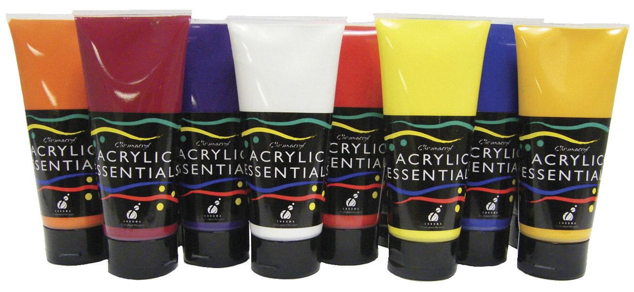 Chroma acrylic essential set assorted colors school for Chroma acrylic mural paint review