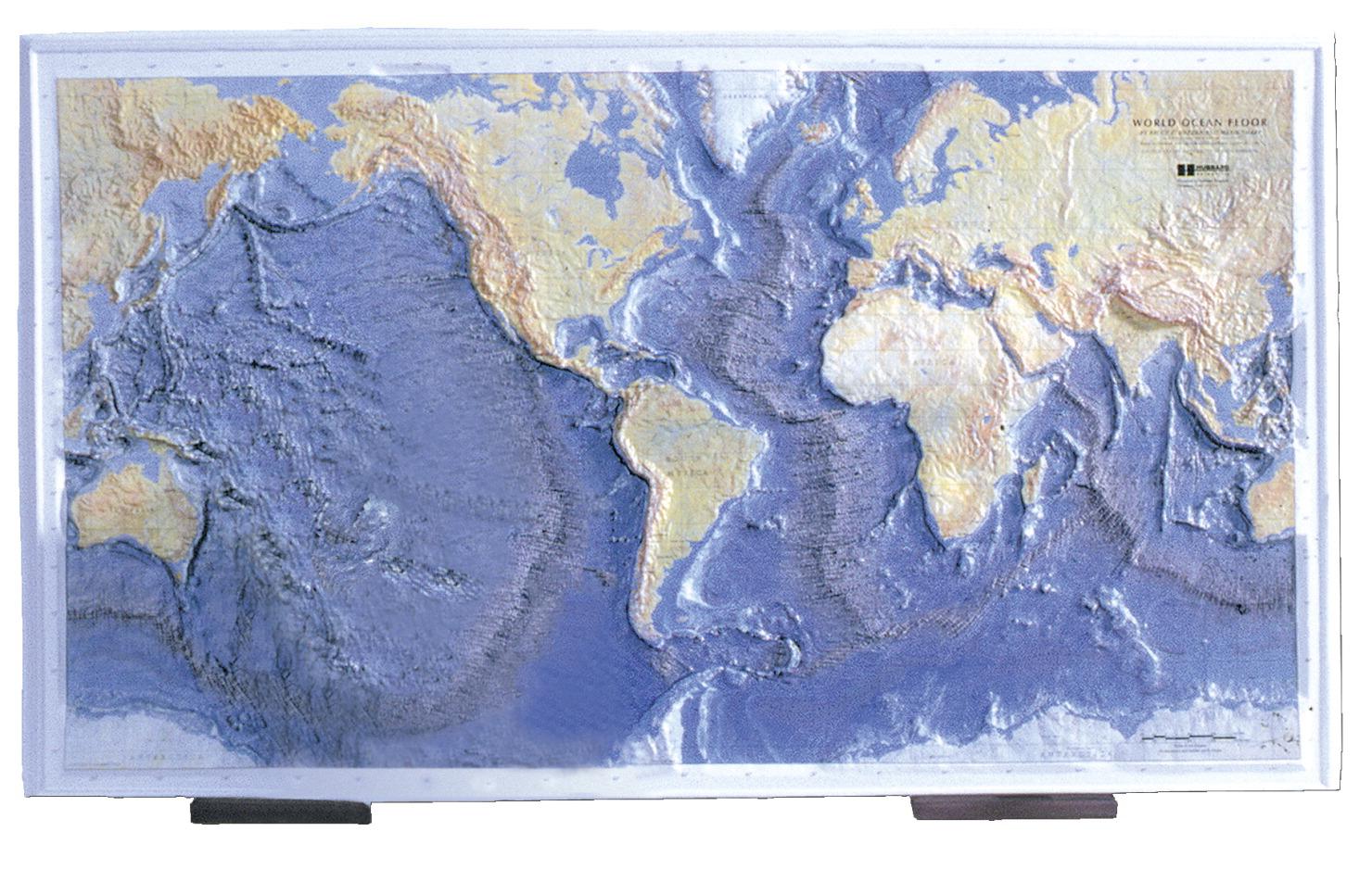 Ocean Floor Raised Relief Map FREY SCIENTIFIC CPO SCIENCE - Raised relief map