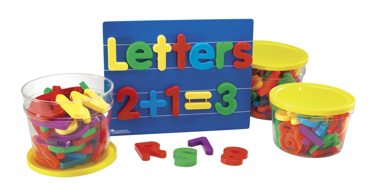 learning resources jumbo magnetic letters and numbers bundle 116 pieces