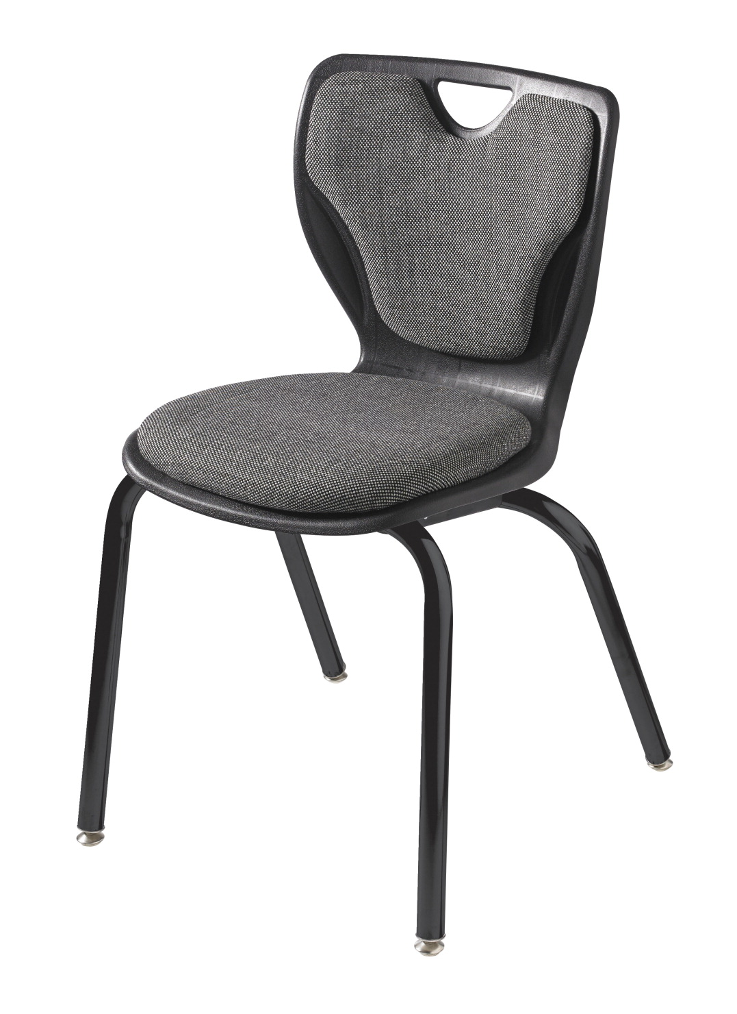 Classroom Select Contemporary Chair, Padded, 18 Inch A+ Seat Height, Black Frame, Various Options