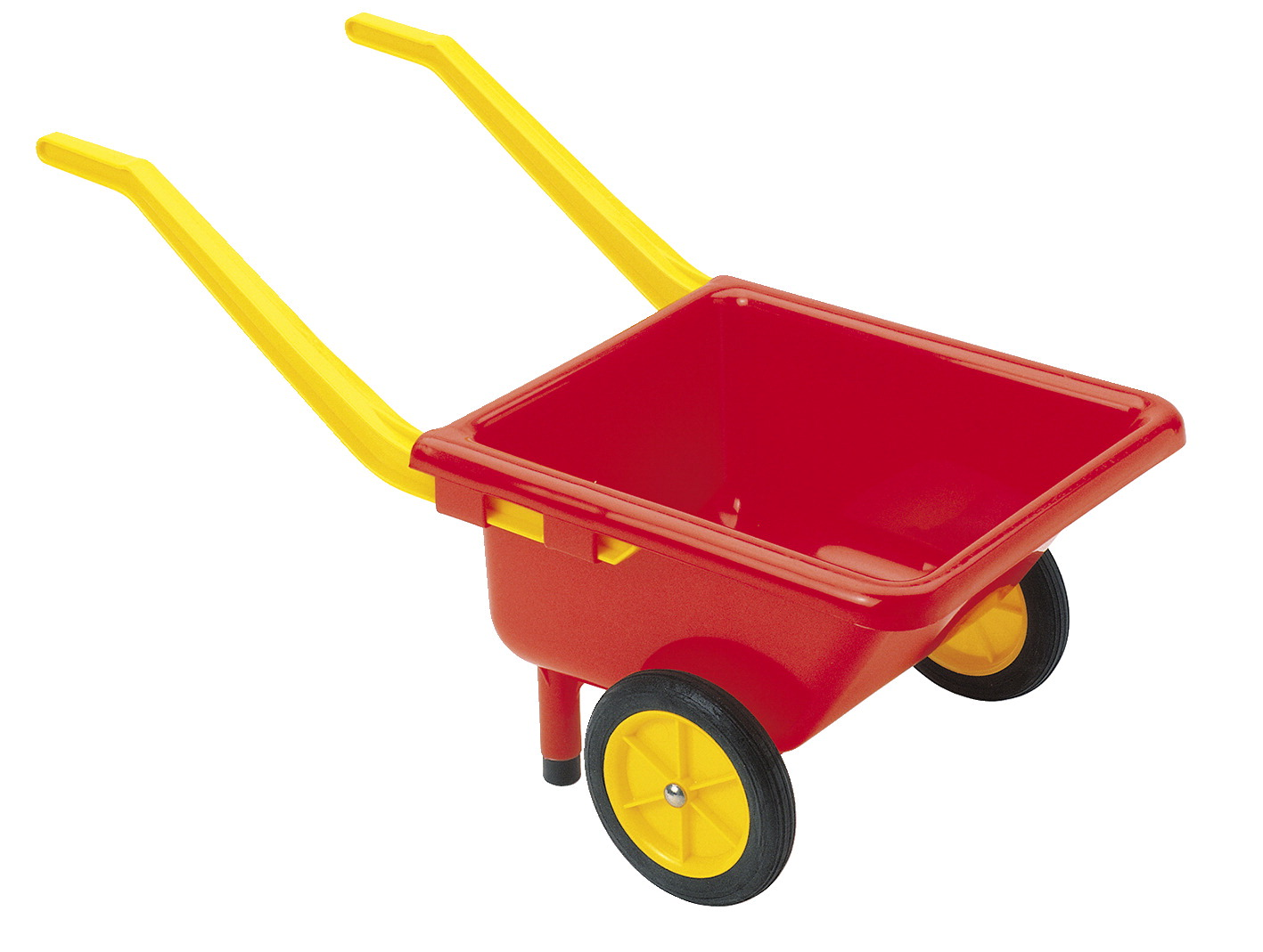 Dantoy Heavy-Duty Toy Wheelbarrow, 2 Wheels, 110 Pound Capacity, Red