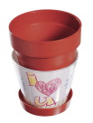 Neil Enterprises Snapins Plastic Clay Snap Together Craft Planter, Pack of 12