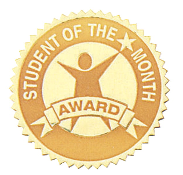 Hammond & Stephens Student of the Month Gold Foil Embossed Seal, Pack of 54