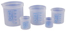 Azlon Printed Straight Wall Beakers - Set of 5