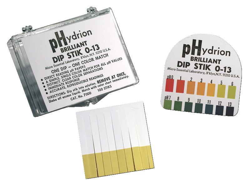 Hydrion Brilliant pH Dip Stiks