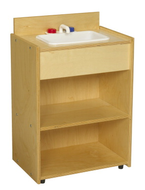 Childcraft abc furnishings kitchen sink 19 w x 13 d x 28 for Child craft play kitchen