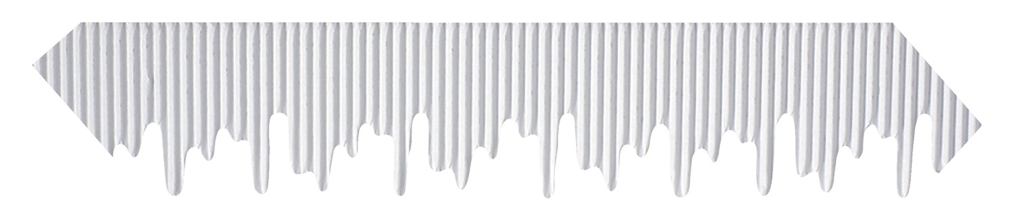 Pacon Bordette Icicle Decorative Border, 2-1/4 Inches X 25 Feet, White