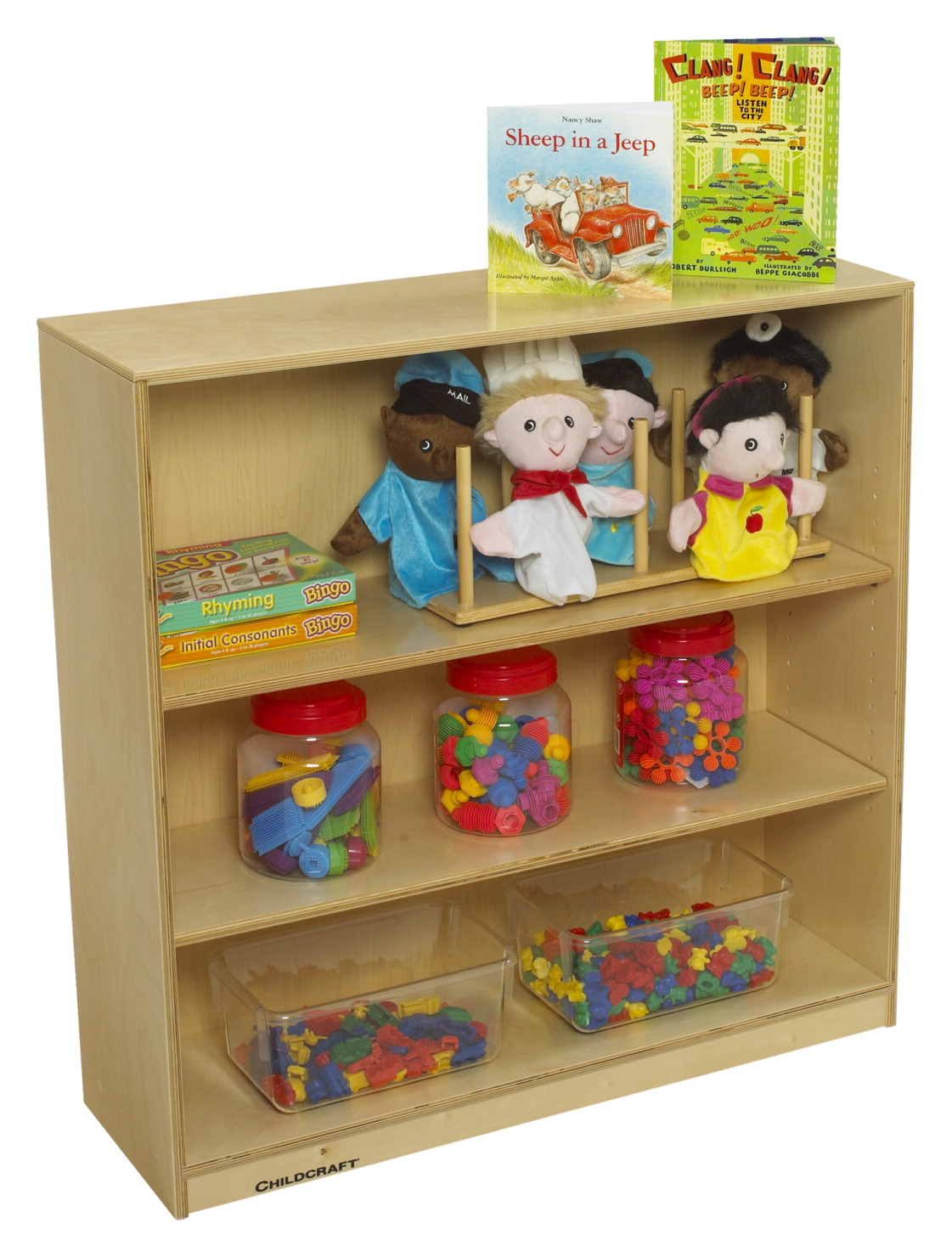 Childcraft Adjustable Bookshelf 3 Shelves 35 4 X 11 5 8 36 Inches