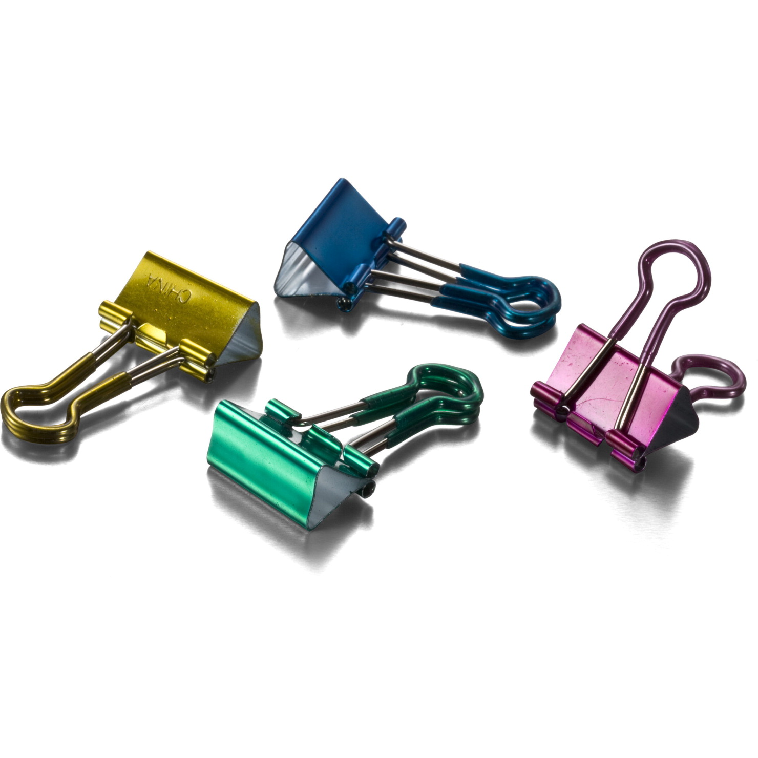 Officemate Easy Grip Binder Clips, Assorted Colors