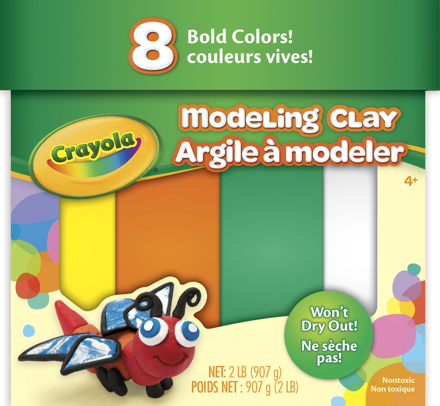 Crayola Modeling Clay, 2 Pounds, Bold Colors, Set of 8