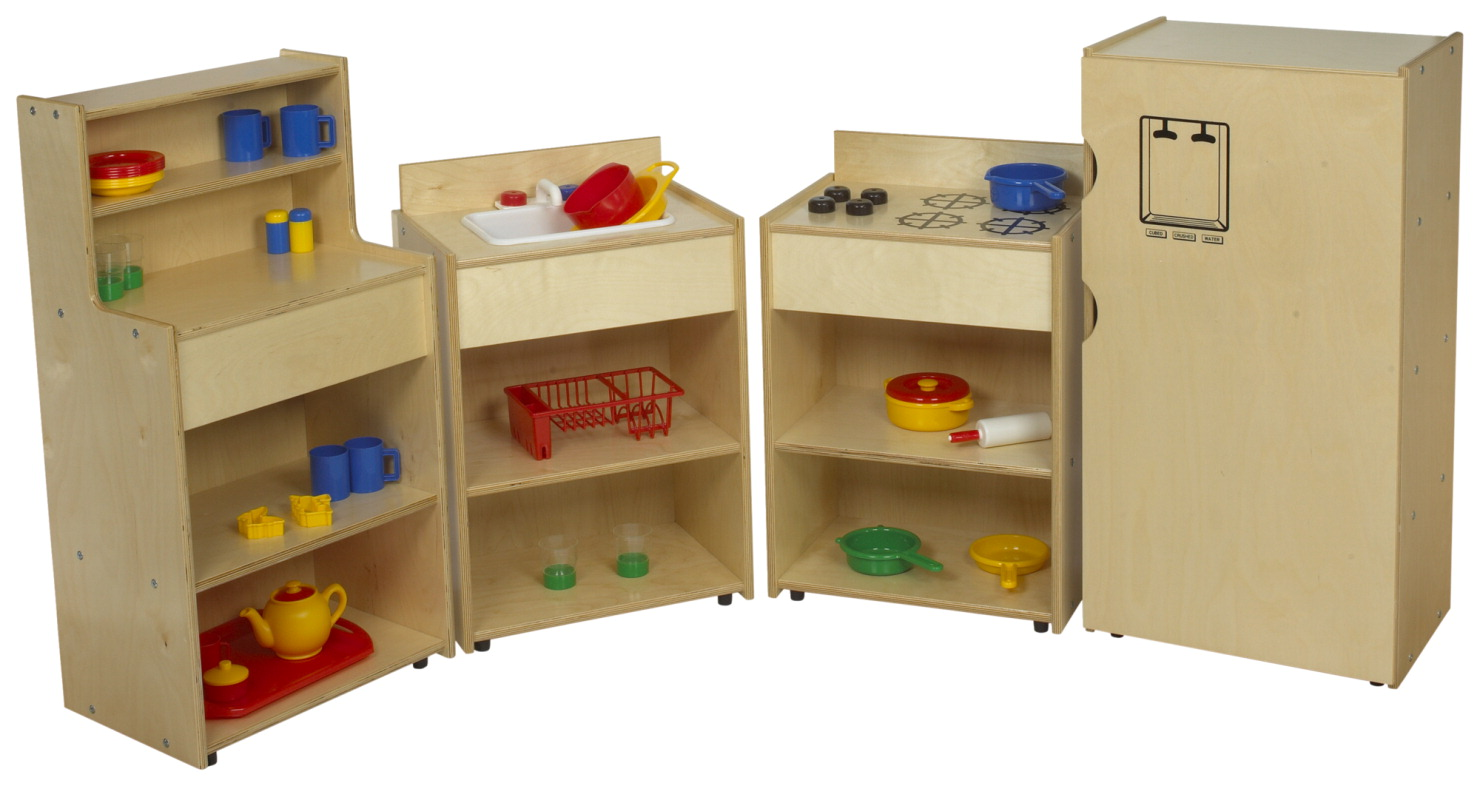 Childcraft abc furnishings complete kitchen set school for Entire kitchen set