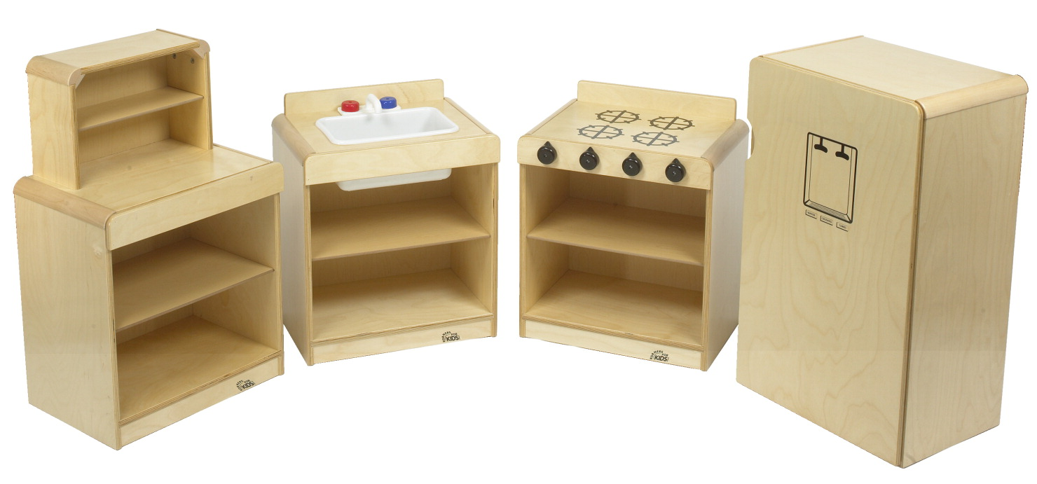 Childcraft korners for kids toddler kitchen set of 4 for Child craft play kitchen