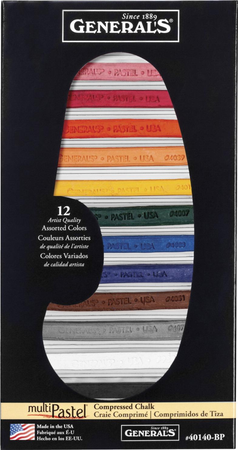general s compressed pastel chalk sticks assorted colors set of 12
