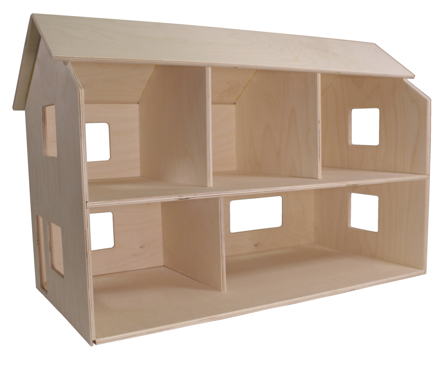 Childcraft Classic Wooden Dolls House, Unfinished, 29-3/4 x 15-1/2 x 19-1/2 Inches