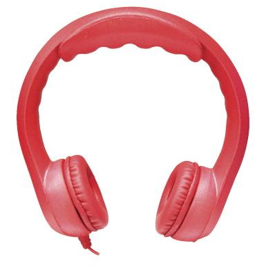 Hamilton KIDS-RED Flex-Phones, Foam Headphones, Red