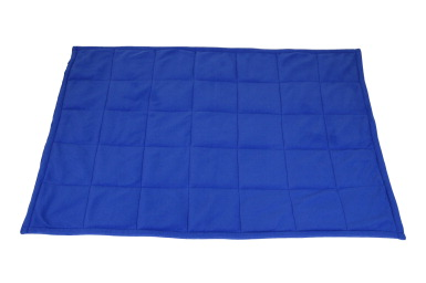 Abilitations Fleece Weighted Blanket Blue School