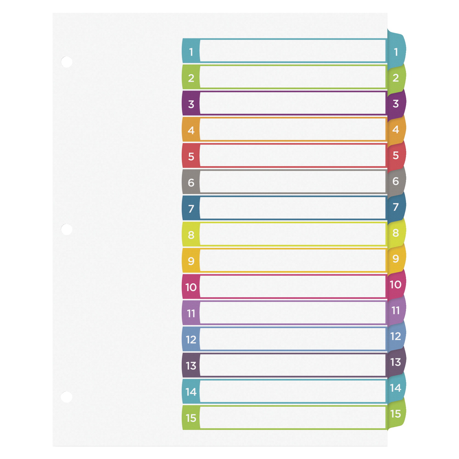 Avery Ready Index Table of Contents Dividers, 15-Tabs, Multiple ...