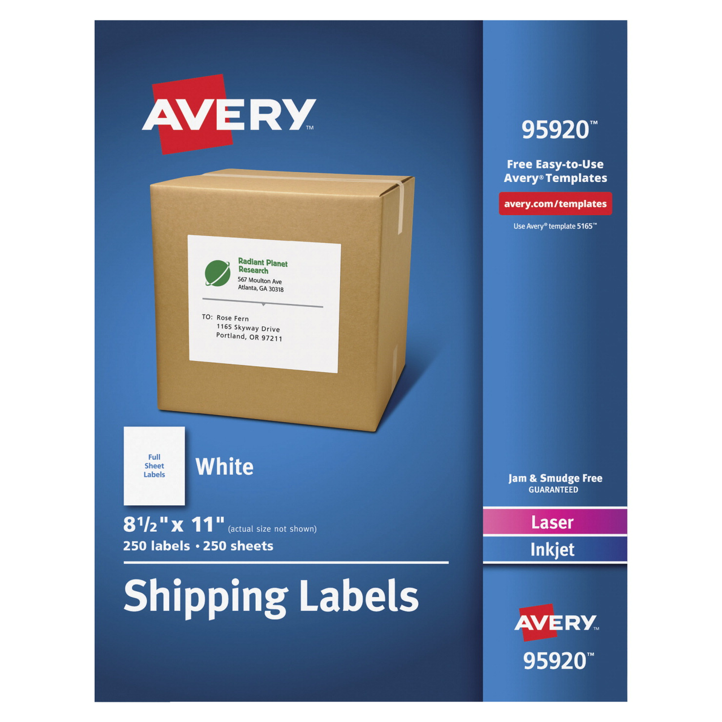 This is a picture of Impeccable Avery White Mailing Labels Template
