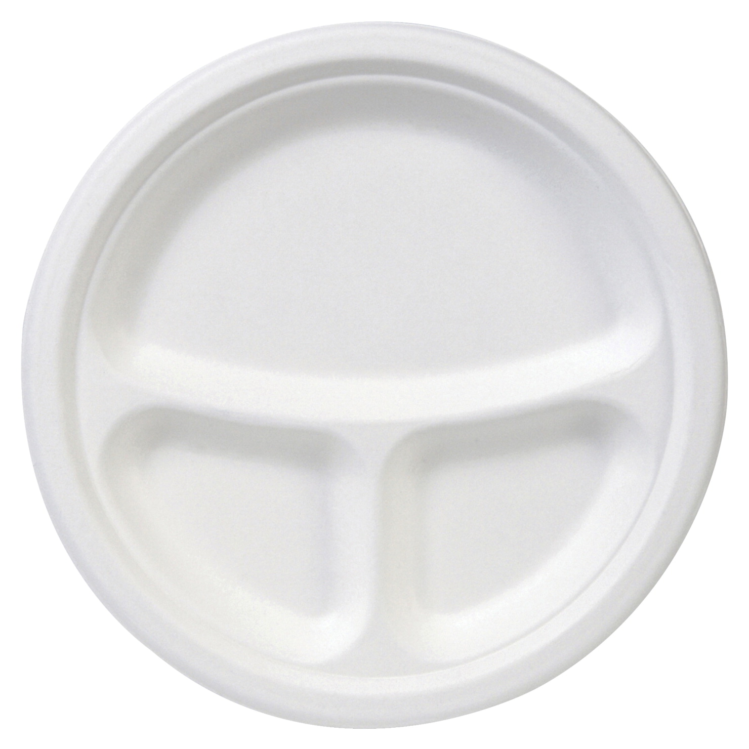 Dixie Foods EcoSmart 3-Compartment Plates, 10 in, White, Pack of 10 ...