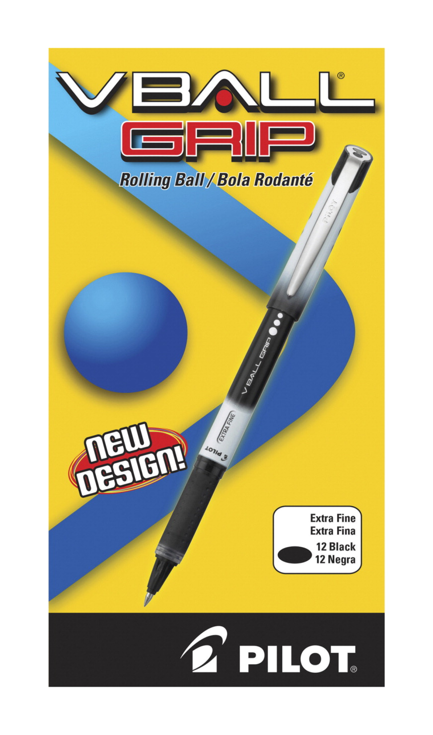 Pilot V-Ball Grip Liquid Ink Rollerball Pen, Nonrefillable ...