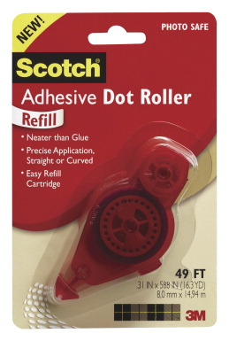 3m Scotch Adhesive Dot Roller Refill Clear School