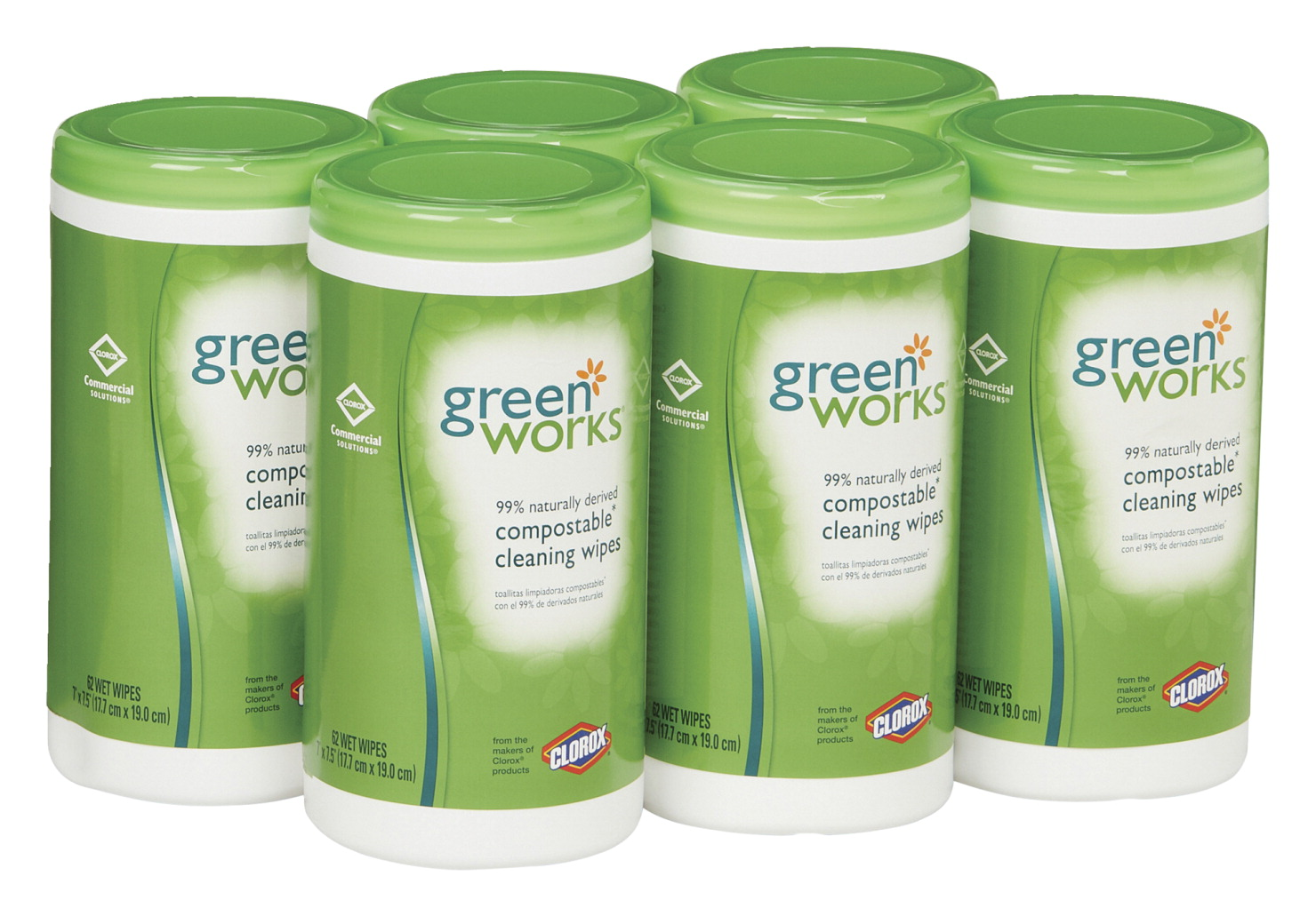 Clorox Green Works Compostable Cleaning Wipes, Pack of 6