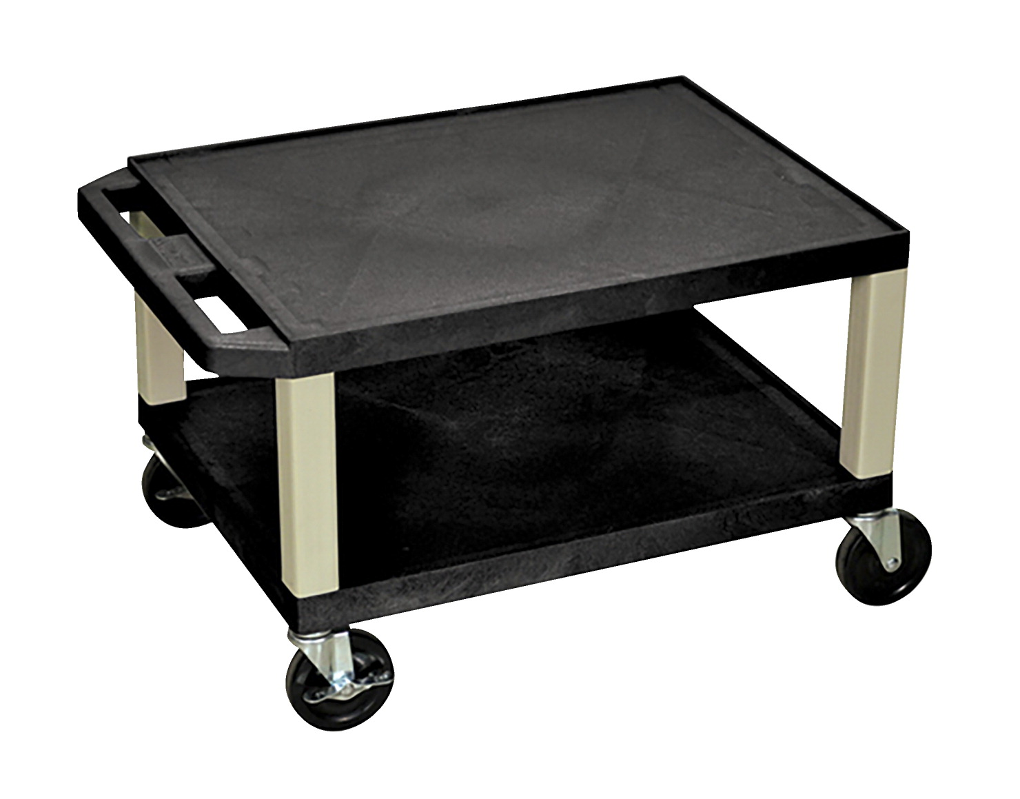 Luxor Tuffy AV Cart with 2 Shelves and Electric, 24 x 18 x 16 Inches, Various Options
