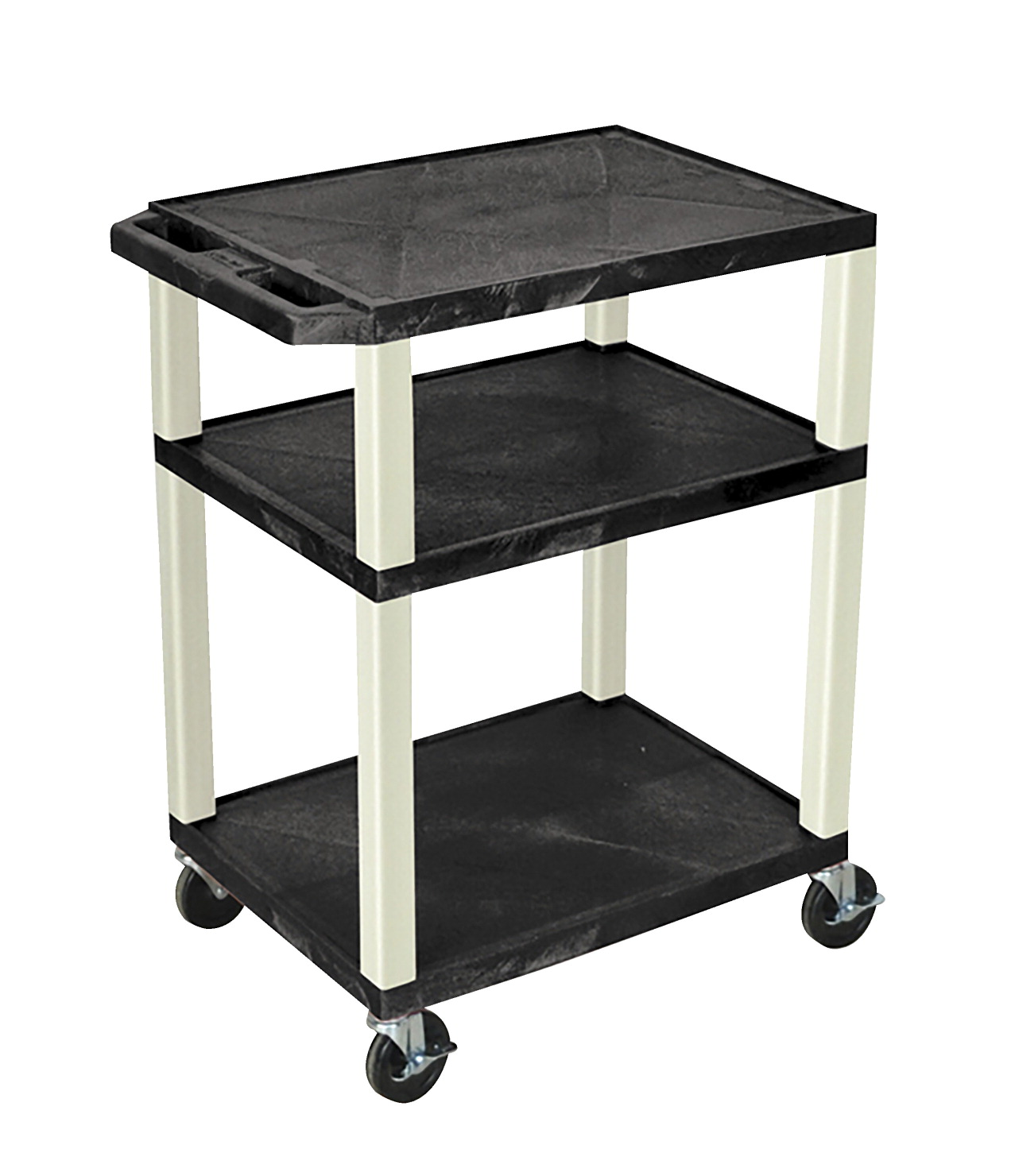 Luxor Tuffy AV Cart with 3 Shelves, 24 x 18 x 34 Inches, Various Options