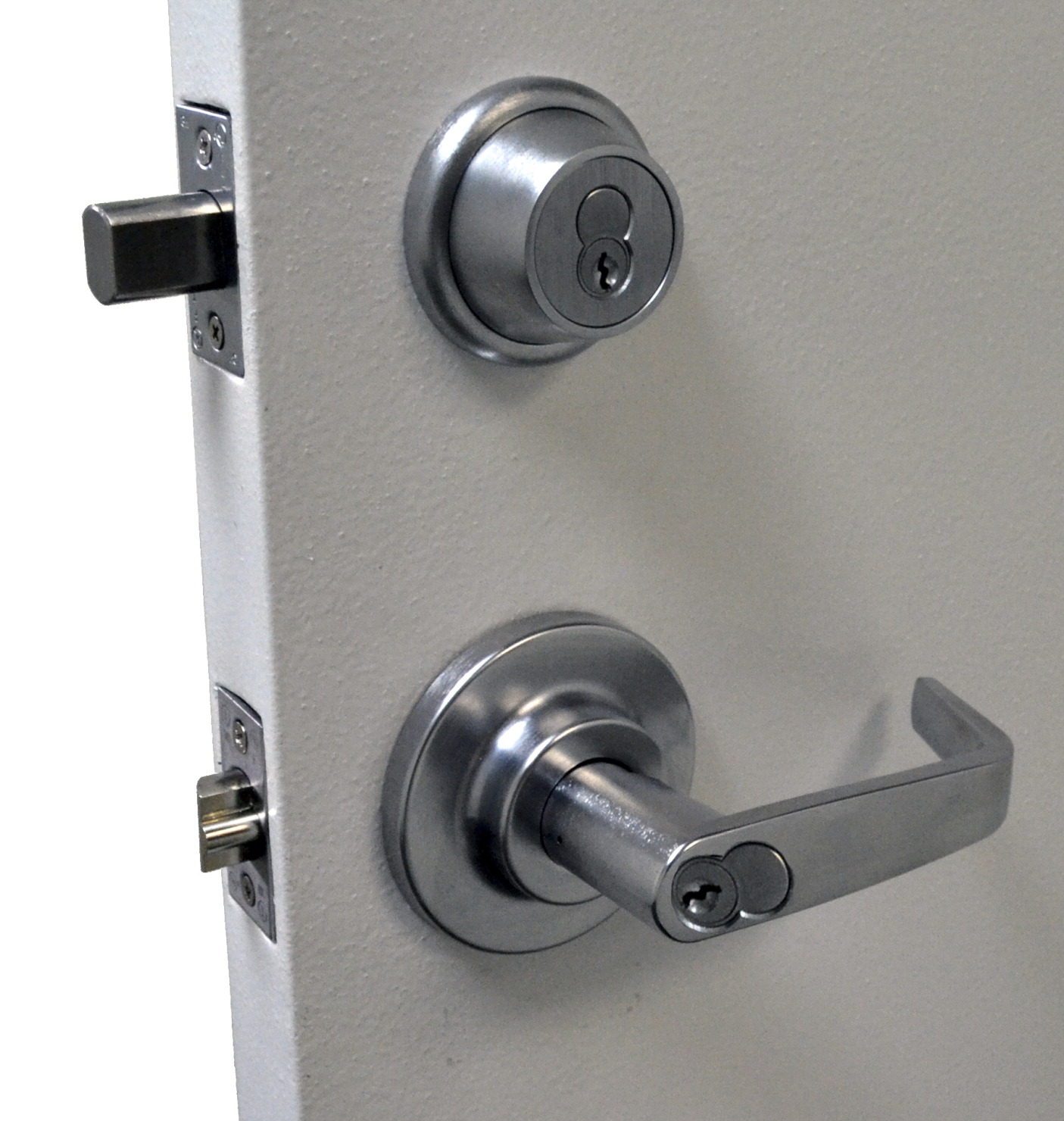 Guardian Quick Action Deadbolt Lock Cylindrical RHR, Interior & Exterior Cylinders.