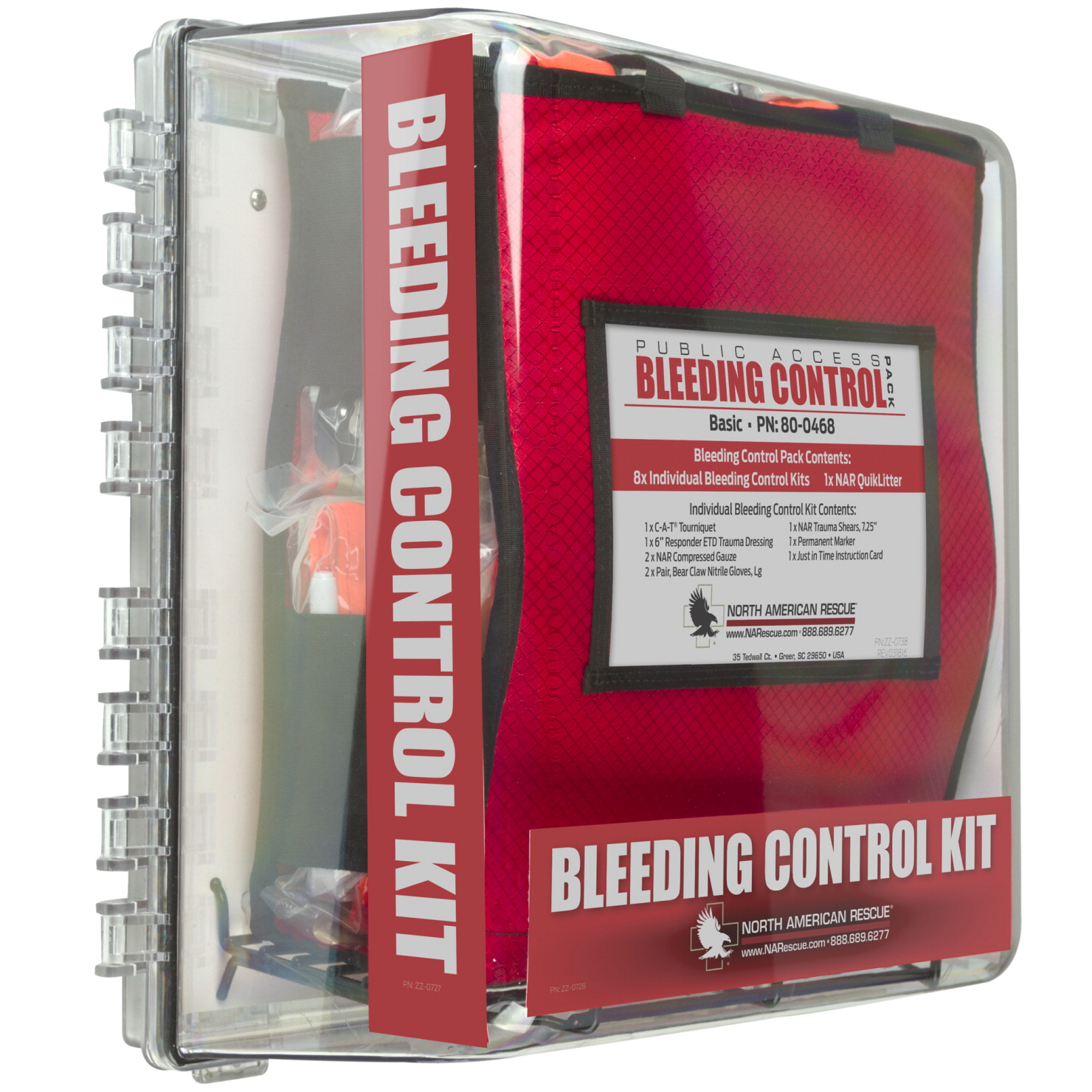 North American Rescue Public Access Bleeding Control, Basic W Cabinet
