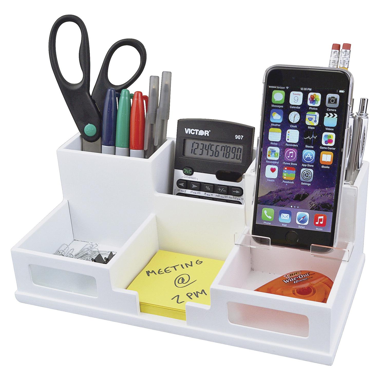 Victor phone holder desk organizer 5 1 2 x 10 3 8 x 3 1 2 - Desk organize ...