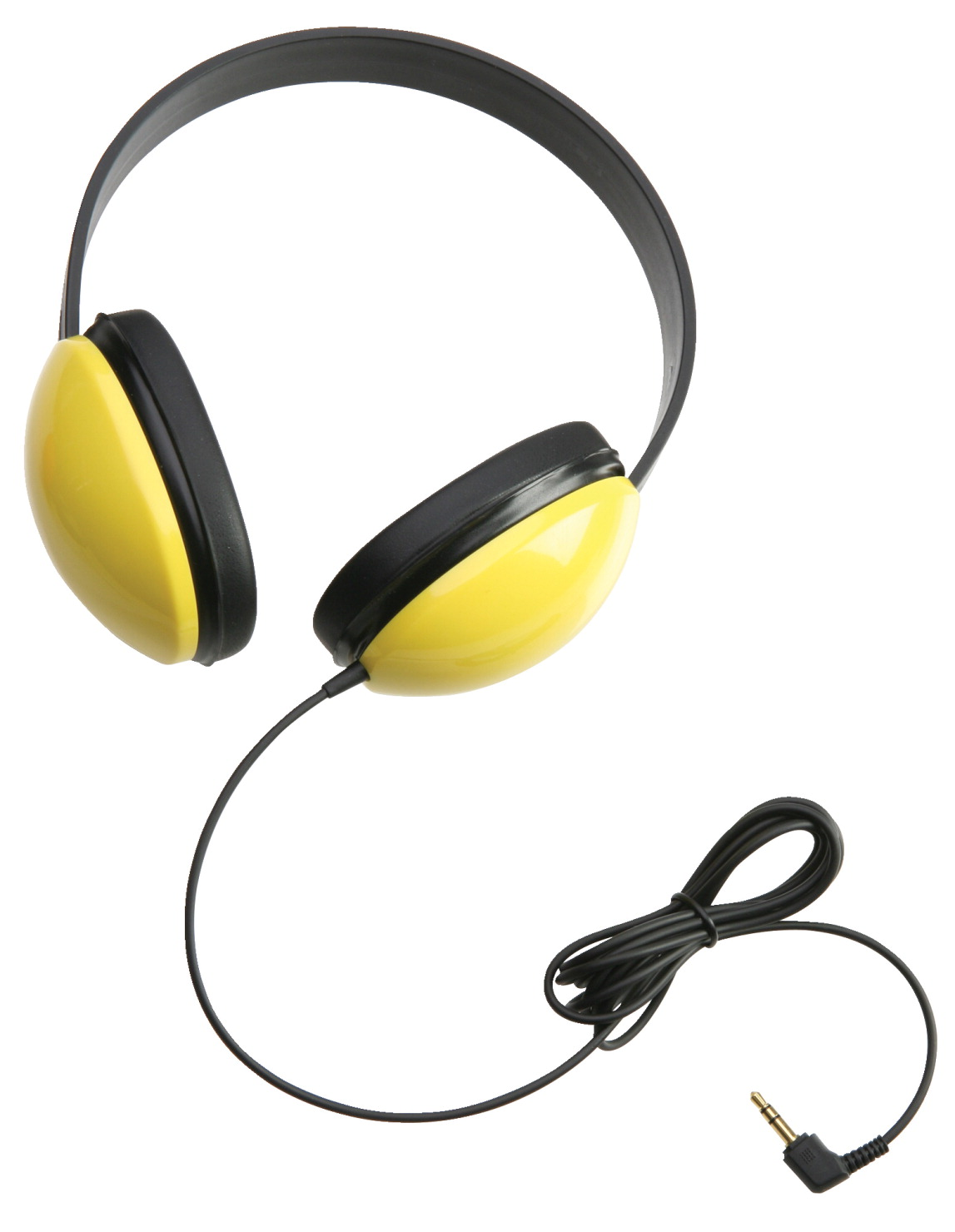 Califone Listening First 2800-YL Over-Ear Stereo Headphones, 3.5mm Plug, Yellow, Each