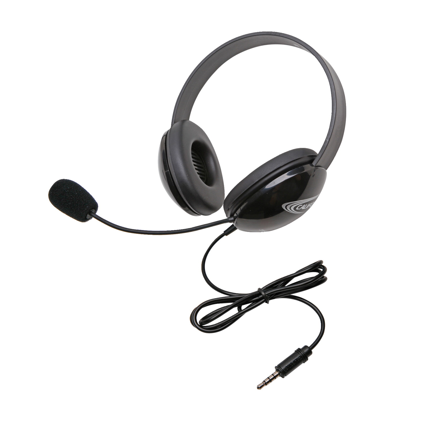 Califone 2800TBK Listening First Stereo Headphones with 3.5mm Plug, Black